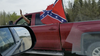 This truck with a Confederate flag was spotted in late May along Highway 21. Photo Supplied