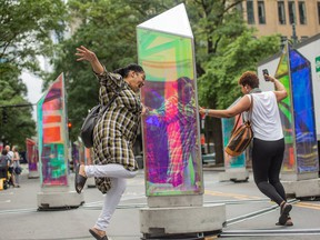 Prismatica, an illuminated art installation which has made appearances in Switzerland, England and Chicago. Prismatica will be in downtown Belleville starting Friday, July 17 through until August 16. The art attraction is part of the Al Fresco event in the city's core. BRENT KELLY