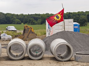 A group of indigenous protesters have re-taken a residential development in Caledonia after being removed by OPP on Wednesday.