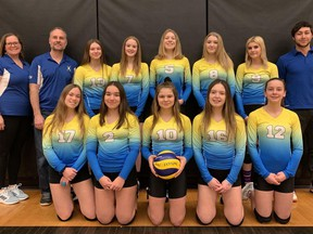 The players from the 2019 Simcoe Xtreme 15U team are among those waiting on an announcement from the Ontario Volleyball Association regarding a safe return to play. CONTRIBUTED