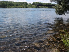 A view of the river from the shoreline in Cornwall, not far from the north span of the bridge. Photo on Friday, July 17, 2020, in Cornwall, Ont. Todd Hambleton/Cornwall Standard-Freeholder/Postmedia Network