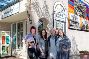 The new co-owners of The Painted Door on Main gift and gallery. (L-r) Coreena Kornel, Sherry Allies, Bonnie Belzevick and Bonnie-Jean McAllister. (Supplied)