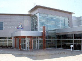 Timmins Police Service headquarters on Spruce Street South.  The Daily Press file photo
