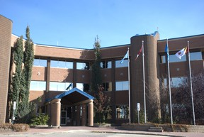 A picture of Grande Prairie City Hall. City Council approved the Economic Recovery Program and the Grande Prairie & District Chamber of Commerce's grant request for purchase of Get in the Loop digital marketing program.