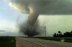 The tornado that touched down near Virden, Man., Friday night. (Photo courtesy Manitoba Storm Chasers Facebook)