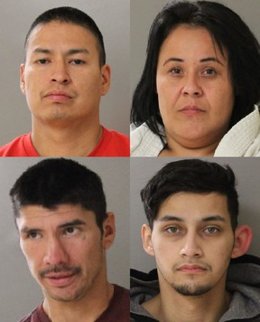 Valleyview RCMP are requesting public assistance to locate four wanted persons for an attempted murder that occurred in Sturgeon Lake, Alta. on Friday, Aug. 14, 2020. Clockwise from top left: Colin Aulden Bartlett, Tamara Marie Chowace, Albert John Gladue and Dorian Anakian Harvey.