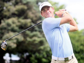 Mat Hawryluk of Chatham, Ont., takes a swing after a Jamieson Junior Golf Tour event at Maple City Country Club in Chatham, Ont., on Monday, July 27, 2020. Mark Malone/Chatham Daily News/Postmedia Network