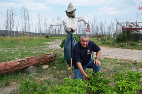 Bill Loutitt, CEO of McMurray Métis, in the community garden outside the Local's main office on Friday, August 7, 2020. Supplied Image/Madilyn Hite/McMurray Métis