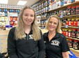 Popeye's Supplements Co-managers Jennifer McCreadie and Laura Nuttall.