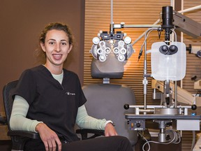 Dr. Meghan Telfer of William Street Eyecare in Brantford is among optometrists from across Ontario in the middle of a job action campaign to bring attention to funding deficits with OHIP-covered eye care.