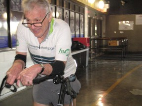 Bob Hardy completing another walker racer lap at an event last fall at the Cornwall Civic Complex. Todd Hambleton/Cornwall Standard-Freeholder/Postmedia Network