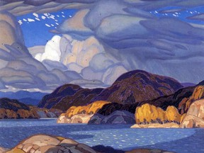 A.J. Casson, October, oil on canvas, 1928, University of Alberta. Submitted image