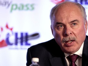 Commissioner David Branch speaks during a press conference before the semi-finals during the Memorial Cup at the Hershey Centre in Mississauga May 27th, 2011. Photo by Dave Abel, Postmedia Network