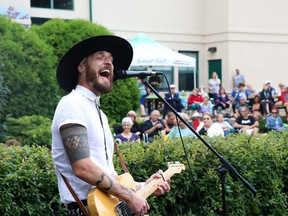 El Niven and the Alibi perform during Summer Sessions at Shikaoi Park in Stony Plain on July 31, 2019.