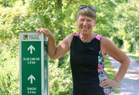 Helen Wagenaar, a member of the Lynn Valley Trail board of directors, is hoping to double the number of trail memberships by Thanksgiving this year. (ASHLEY TAYLOR)