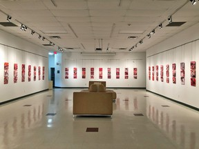 The new exhibit in the main gallery at Prairie Fusion. (supplied photo)
