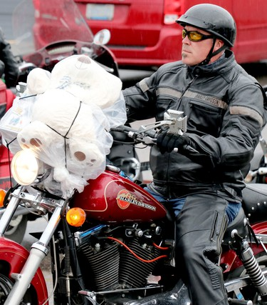 27th annual Bikers Rights Organization's toy run to benefit Women in Crisis (Algoma) at A&W, 659 Great Northern Rd., in Sault Ste. Marie, Ont., on Saturday, Sept. 12, 2020. (BRIAN KELLY/THE SAULT STAR/POSTMEDIA NETWORK)
