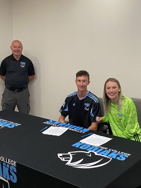 Brother and sister combo Keegan and Kylie Bolton have both opted to attend the same school this fall, making college commitments to join the Lethbridge College Kodiaks soccer squads.  Photo Supplied