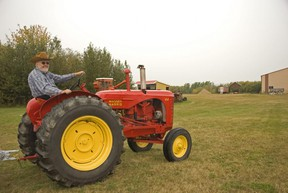 Owen Stanford provided tractor rides free of charge at the Fairview Pioneer Museum as part of the Heart of the Peace Harvest Festival events. The museum is not usually open on Saturdays but was on Sept. 19.