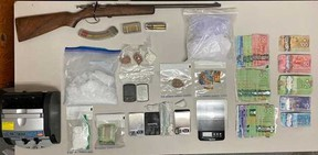 Four individuals are facing drugs and weapons charges following an arrest by Bonnyville RCMP.
