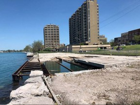 This City of Sarnia photo shows the end of Ferry Dock Hill in Sarnia after a building there was demolished in May. Development ideas for the land parcel are being considered by the city. File photo/Postmedia Network