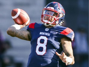 """""""After deeply reviewing and reflecting upon my opportunities south of the border, I've come to the conclusion that my heart's in Montreal,"""" Alouettes quarterback Vernon Adams Jr. says."""