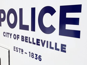 Belleville police vehicle.