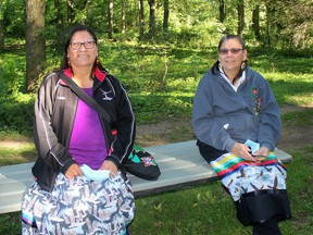 Delaware First Nation member Lana Parenteau, left, is Chatham-Kent's first Indigenous Peer Navigator. She is seen her with her supervisor Donna Isaac-Day, Justice Team Leader at the Walpole Island First Nation. in Chatham, Ont. on Friday September 18, 2020. Ellwood Shreve/Chatham Daily News/Postmedia Network