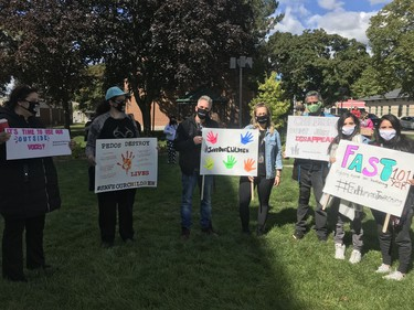 A Save Our Children march was held downtown Pitt Street on Saturday, Sept. 19 in Cornwall, Ont. Joshua Santos/Cornwall Standard-Freeholder/Postmedia Network
