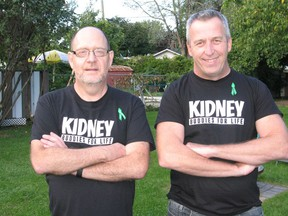 It's definitely a bond for life, for kidney donor Stuart Asselstine (right) and kidney recipient Michel Seguin. Photo on Thursday, September 17, 2020, in Cornwall, Ont. Todd Hambleton/Cornwall Standard-Freeholder/Postmedia Network