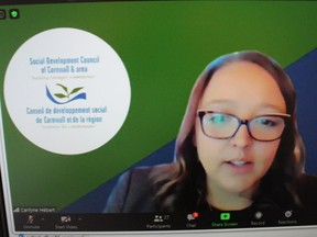 Social Development Council executive director Carilyne Hebert during the virtual annual general meeting, held on Tuesday morning. Photo on Tuesday, September 22, 2020, in Cornwall, Ont. Todd Hambleton/Cornwall Standard-Freeholder/Postmedia Network