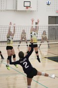 Volleyball meet held at J.C. Ch…