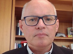 Dr. Kieran Moore, medical officer of health for the Kingston region, speaks via Skype on Wednesday about four recent overdose deaths in the community. Public health attributes these deaths to fentanyl toxicity. (Meghan Balogh/The Whig-Standard)