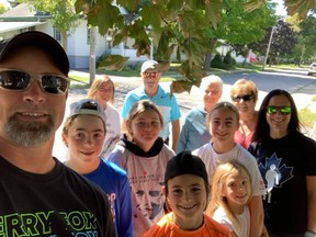 Team Bowman-Kurt's Krew collected over $2,200 this year for the Terry Fox Run. Even in tough times, the tough keep finding ways to make it work.   Supplied by Terry Fox Runs