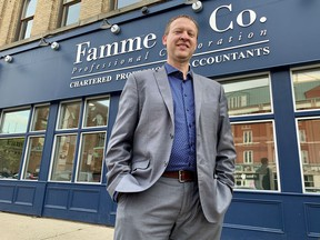 Franklin Famme has been named this years Business Leader of the Year by the Stratford and District Chamber of Commerce. Cory Smith/The Beacon Herald