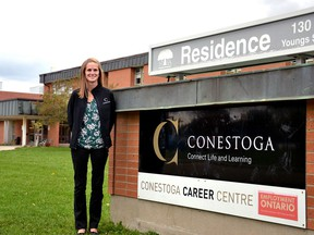 Sarah Pottier, chair of Conestoga College's personal support worker and supportive care programs, says the school's campus in Stratford will begin training personal support workers for the first time this winter, part of an effort to significantly increase the number of PSWs the college sends into the workforce over the next five years. Photo taken in Stratford Ont. Sept. 29, 2020. (GALEN SIMMONS/Stratford Beacon Herald)