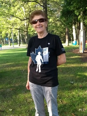 Giulia Bonomini pictured at a past Terry Fox Run. The 90-year-old has participated every year the event has been held in Sarnia. (Submitted)