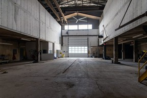 The cavernous Maple Leaf plant in Thamesford at one time employed about 700 workers, and the bulk of those lived in the village recalled Doris Weir. Weir, who worked at the plant with her husband for 15 years, is working alongside Radu and Davies to document the space while the township still owns it before it is sold and becomes much-needed housing. (Courtesy of Doris Weir)