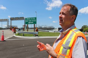 Todd Kealey, with the Federal Bridge Corporation, is shown in this file photo on the Canadian side of the Blue Water Bridge. File photo/Postmedia Network