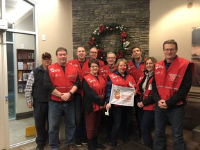 Fort Saskatchewan Rotary Club Operation Red Nose volunteers, pictured last year. The annual holiday fundraiser has been cancelled this year due to the coronavirus pandemic. Photo Supplied.