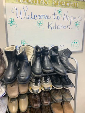 Hope's Kitchen is operating as an outreach space that provides meals, clothes, toiletries and a bathroom to use. The goal is to have the space open 24 hours a day for those who need food, warm clothing or a spot to warm up. Jennifer Hamilton-McCharles/The Nugget