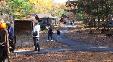 The Petawawa Heritage Village was open from 11 a.m. to 3 p.m. during Petawawa Ramble, allowing folks to visit with their Pumpkin people while taking a tour of the heritage buildings. Anthony Dixon