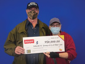 Photo supplied Gerald Francis and Deborah Warren, of Elliot Lake, won $250,000 with the Instant Sonic Multiplier lottery.