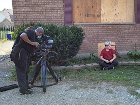Cohen Williams, 13, is filmed in front of his Pain Court home that was damaged by fire on July 7. He is the second teen from Chatham-Kent who will be featured during the second season of My Home My Life that airs on TVO and TVOKids. Handout
