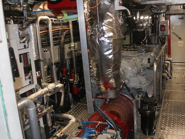 This is engine room of a new Bay Class Search and Rescue vessel Hike Metal Products of Wheatley built for the Canadian Coast Guard that was delivered in October 2020. Ellwood Shreve/Chatham Daily News/Postmedia Network