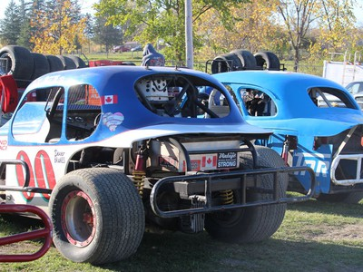 Vintage Division cars in the pits at the Cornwall speedway. Photo on Sunday, October 11, 2020, in Cornwall, Ont. Todd Hambleton/Cornwall Standard-Freeholder/Postmedia Network