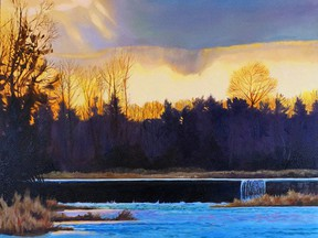 Handout/Cornwall Standard-Freeholder/Postmedia Network Sunset on the Castor, by Russell artist Paul Schibli, is one of the items available in the South Nation Conservation's auction, to raise funds for tree-planting programs. The auction runs from Oct. 8-29, 2020.  Handout Not For Resale