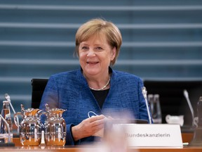 German Chancellor Angela Merkel arrives for the weekly government cabinet meeting on Oct. 21 in Berlin, Germany. (Henning Schacht/Getty Images)