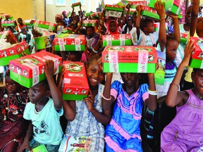 Operation Christmas Child in Leduc is hoping to send out 2,800 shoeboxes this year. (Supplied)