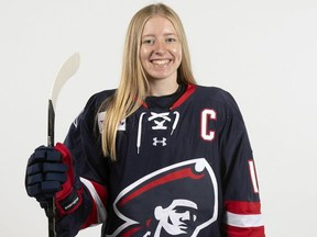 Staffa's Lexi Templeman finished her senior season at RMU by leading the Colonials to a CHA championship.
